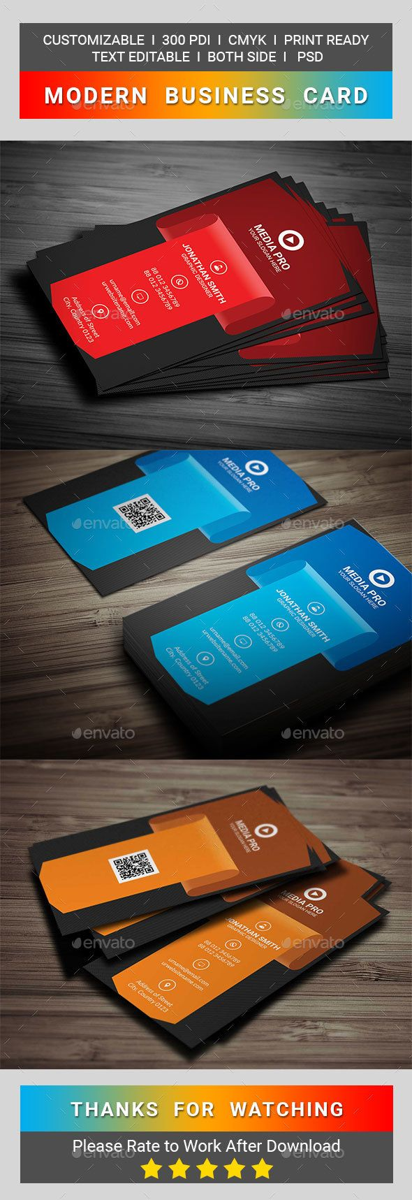Modern business card business cards print templates and card printing modern business card reheart Images