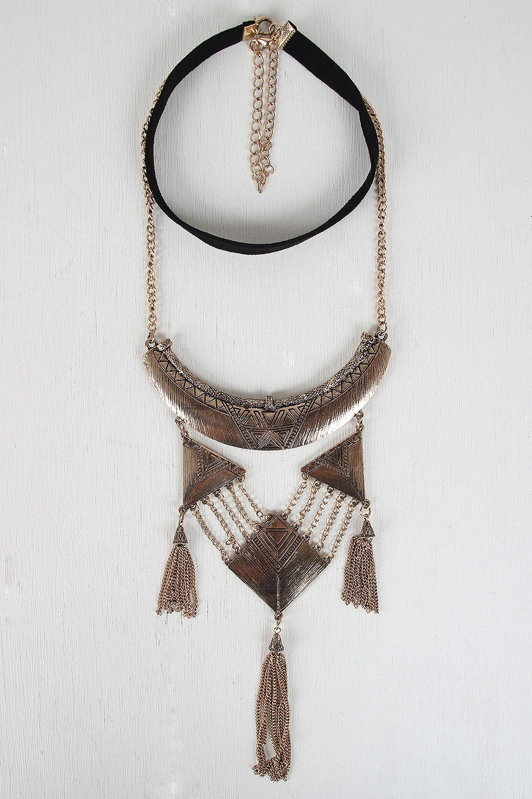 Tribal Statement Necklace and Choker Set