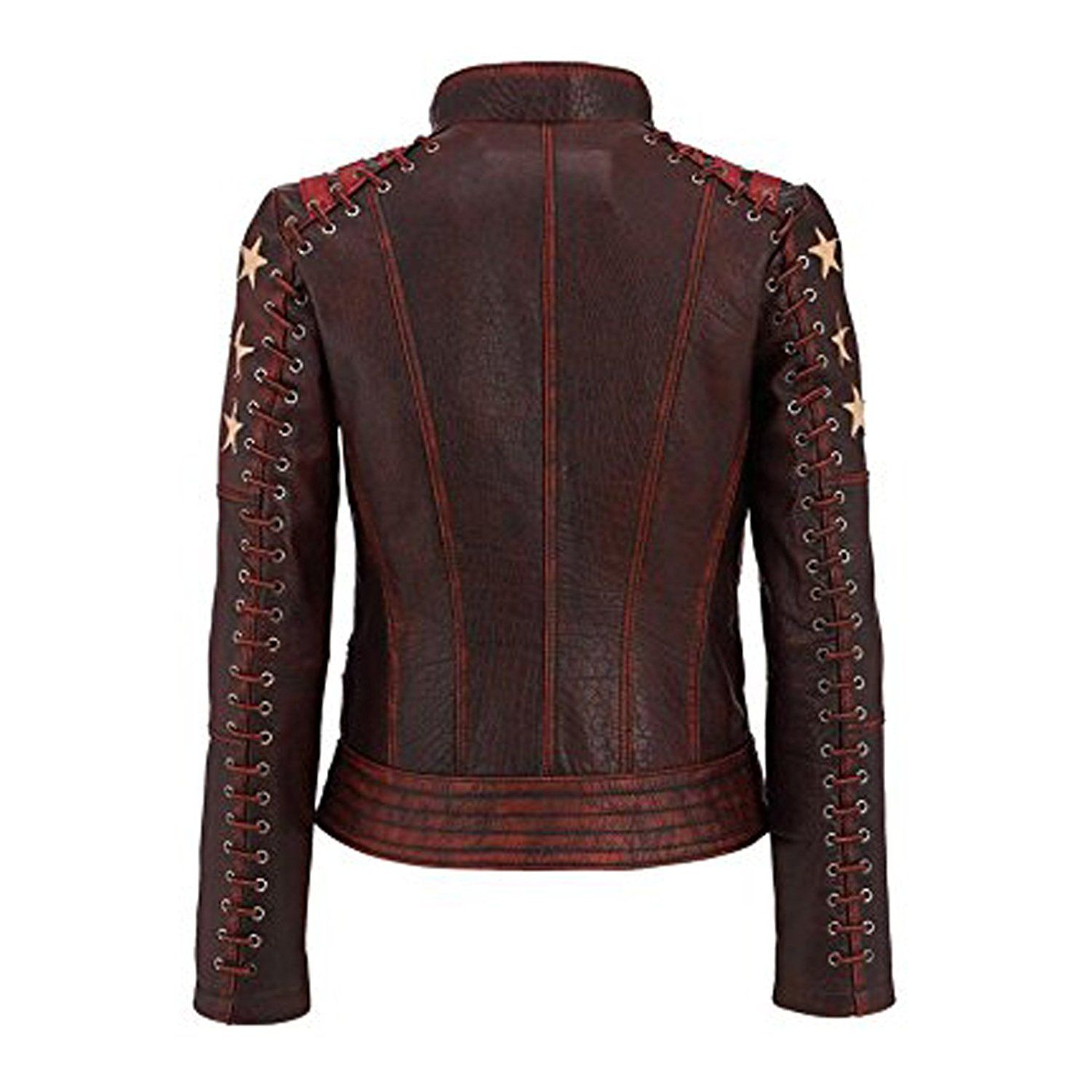 Pin on Women's OX Blood Cafe Racer Leather Jacket TOP SELLER
