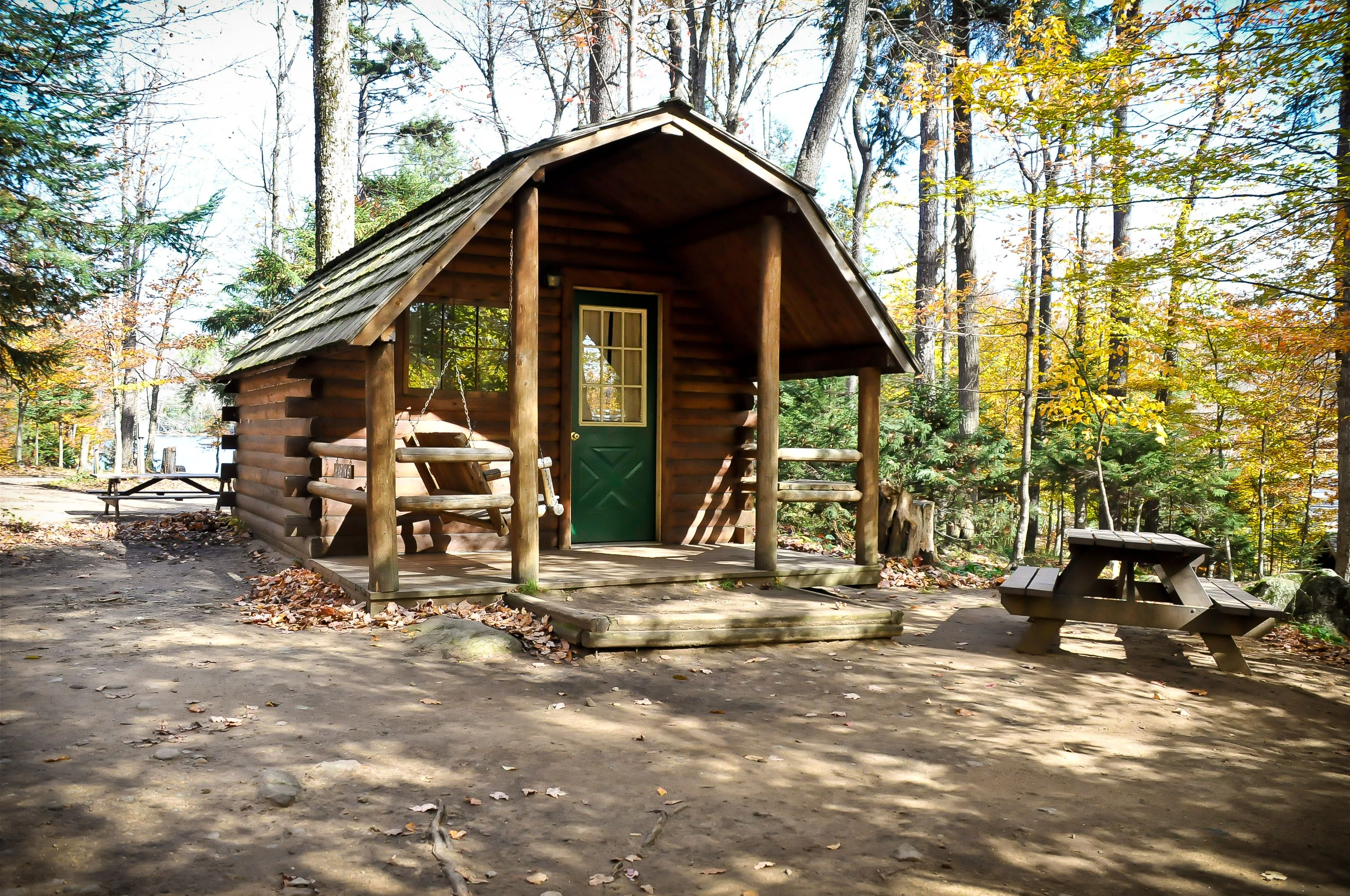 Camping but not quite roughing it try an adirondack for Cabins new york state