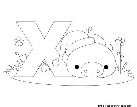 Printable Animal Alphabet Letter X For Xenarthra  Animal Alphabet