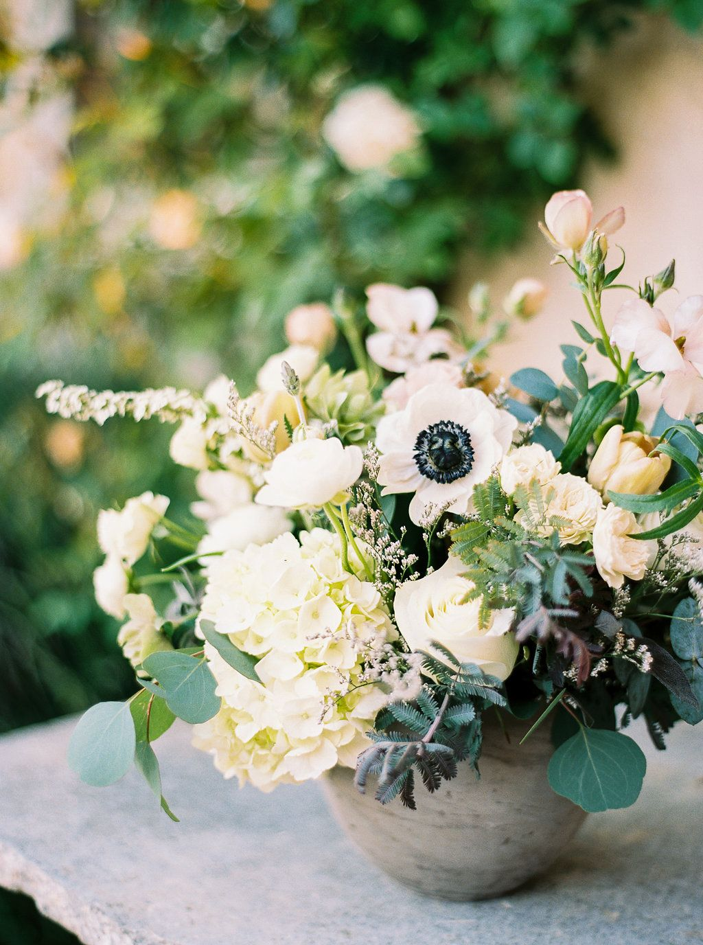 Winery Wedding Flowers Green And White Wedding Floral Design By
