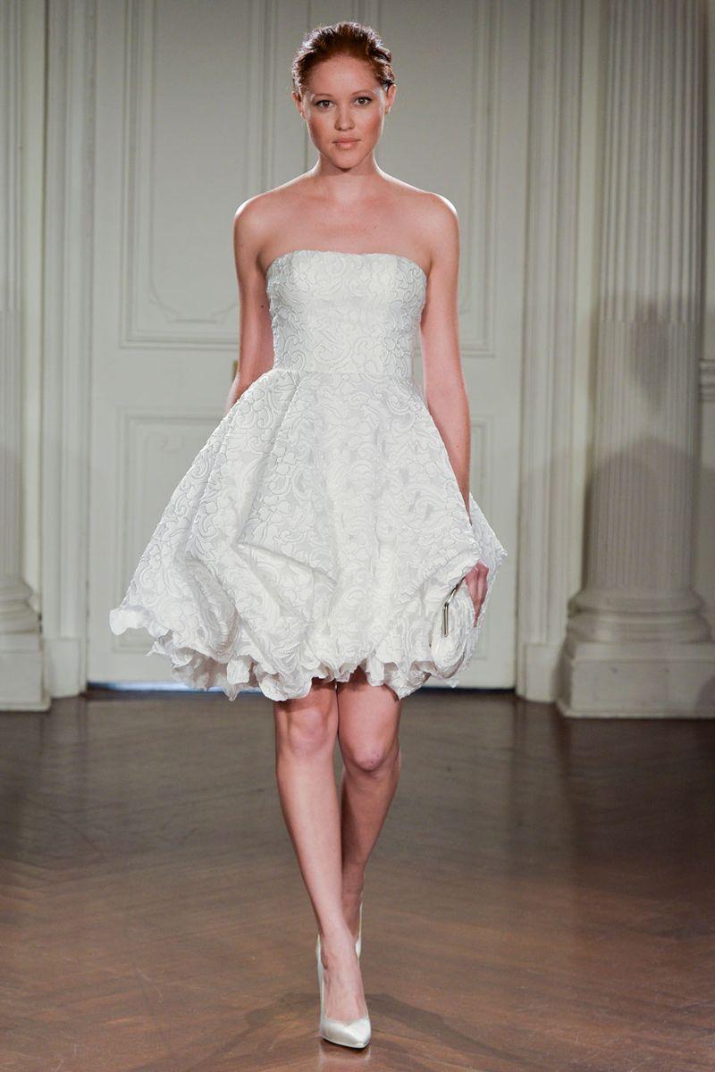 The Best Short Wedding Dresses From Fall 2018 Bridal Week   Sweet ...