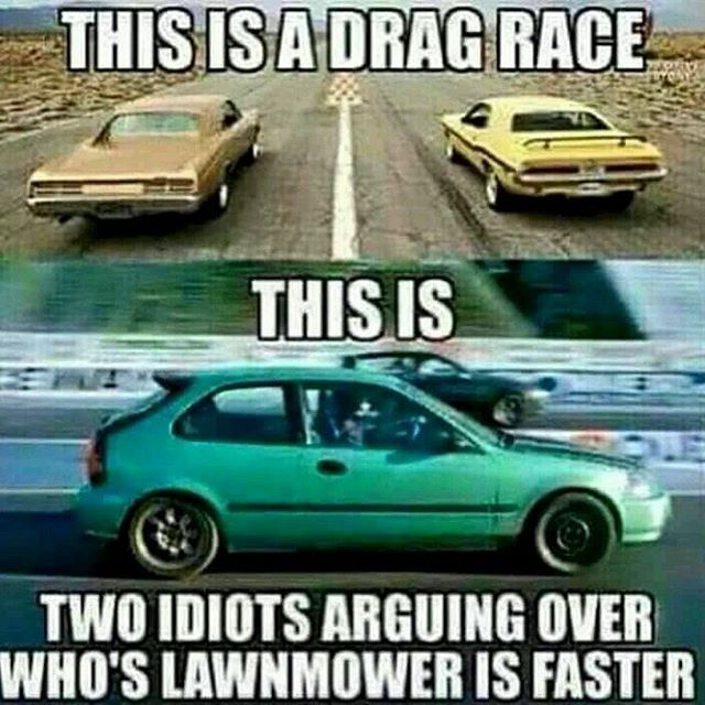 Drag Race+Muscle Car= Power!! | Car Memes and Infographics