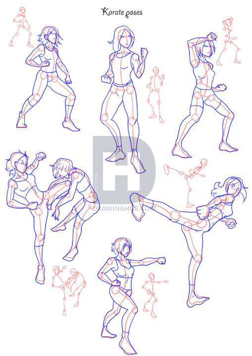 How To Draw Fighting Poses Step By Step Drawing Guide By Neekonoir Drawinghub Fighting Drawing Fighting Poses Online Drawing