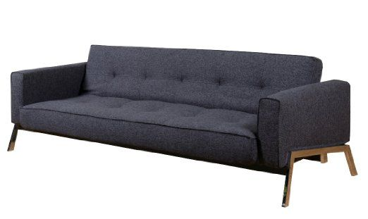 Superb Abbyson Living Vienna Fabric Convertible Sofa Charcoal Gray Caraccident5 Cool Chair Designs And Ideas Caraccident5Info