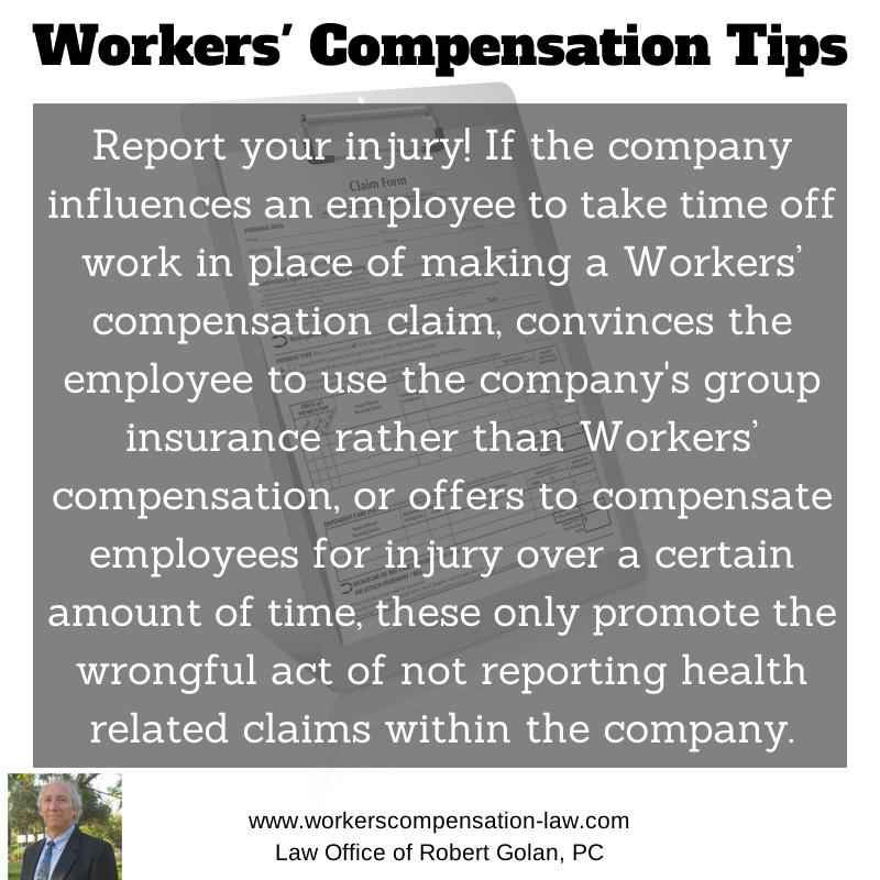 Workers Compensation Tips Report Your Injury If The Company