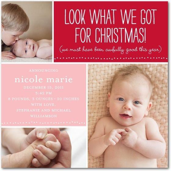 Winter Birth Announcements Staff Picks Birth Pregnancy And Winter - Christmas birth announcement