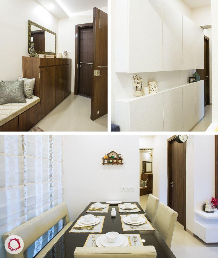 An all white contemporary mumbai livspace home interior design