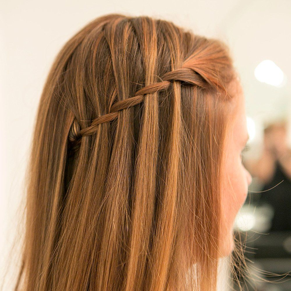 Learn How To Diy The Waterfall Braid Once And For All With This Step By Step Hair Styles Waterfall Braid Hairstyle Waterfall Hairstyle