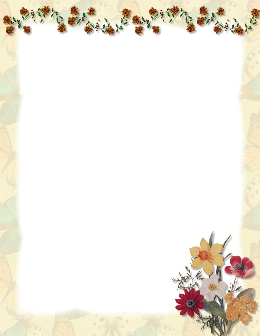 Page Borders For Microsoft Word Floral