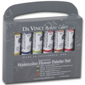 Da Vinci Artists Watercolor Paint 6 Color Flower Set Multi Tube