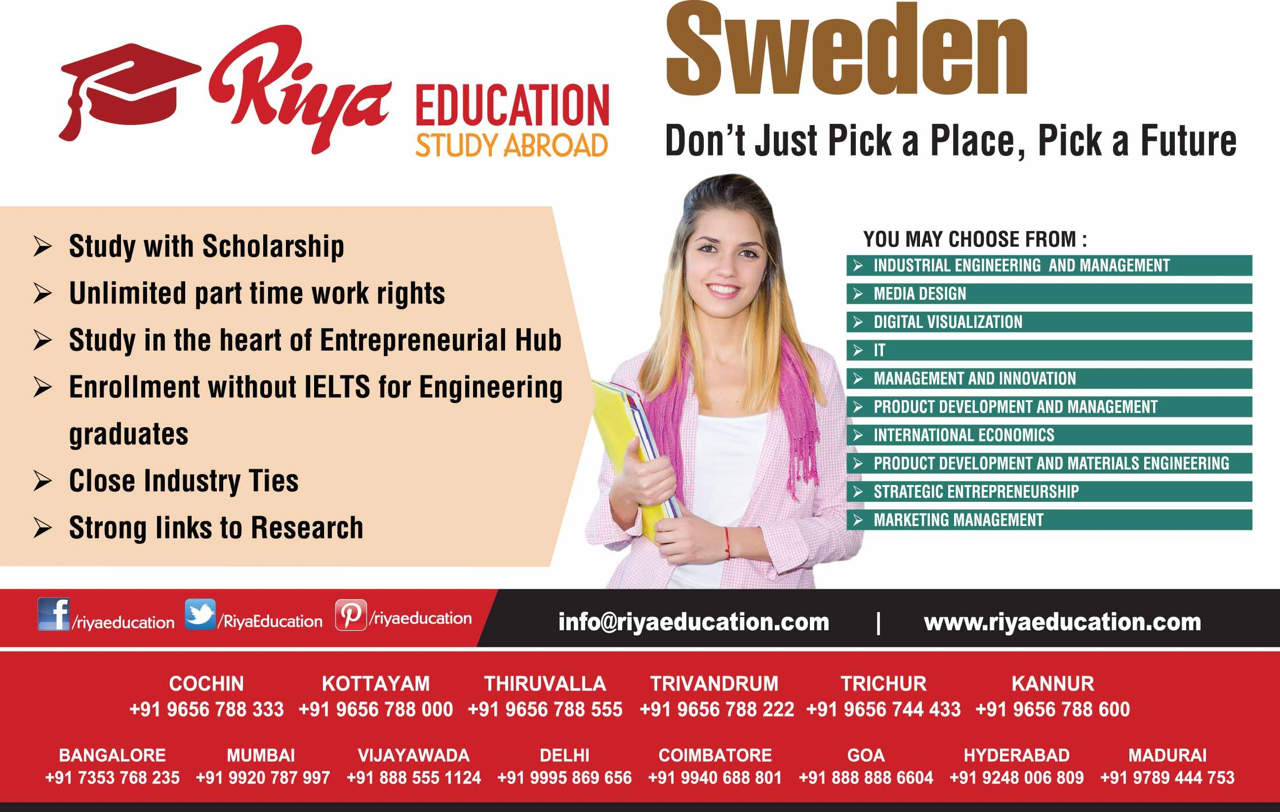 Study In Sweden Engineering Management Education Educational Consultant