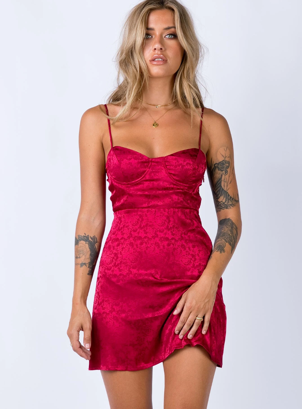 Diva Mini Dress Deep Red US 0 / Deep Red in 2020