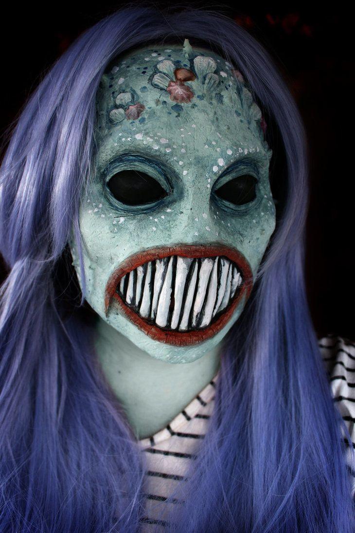 Mermaid Alien costume mask Halloween costume https