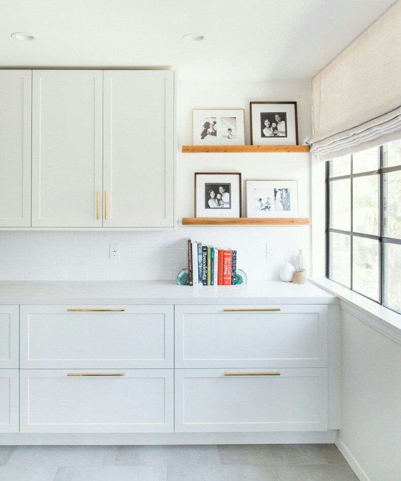 Ikea Kitchen Cupboards: White SuperMatte Shaker Cabinets #whitekitchen