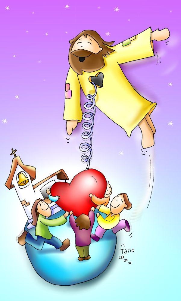 Resultado de imagen para imagenes de Mc 16,15-20 la ascension para niños