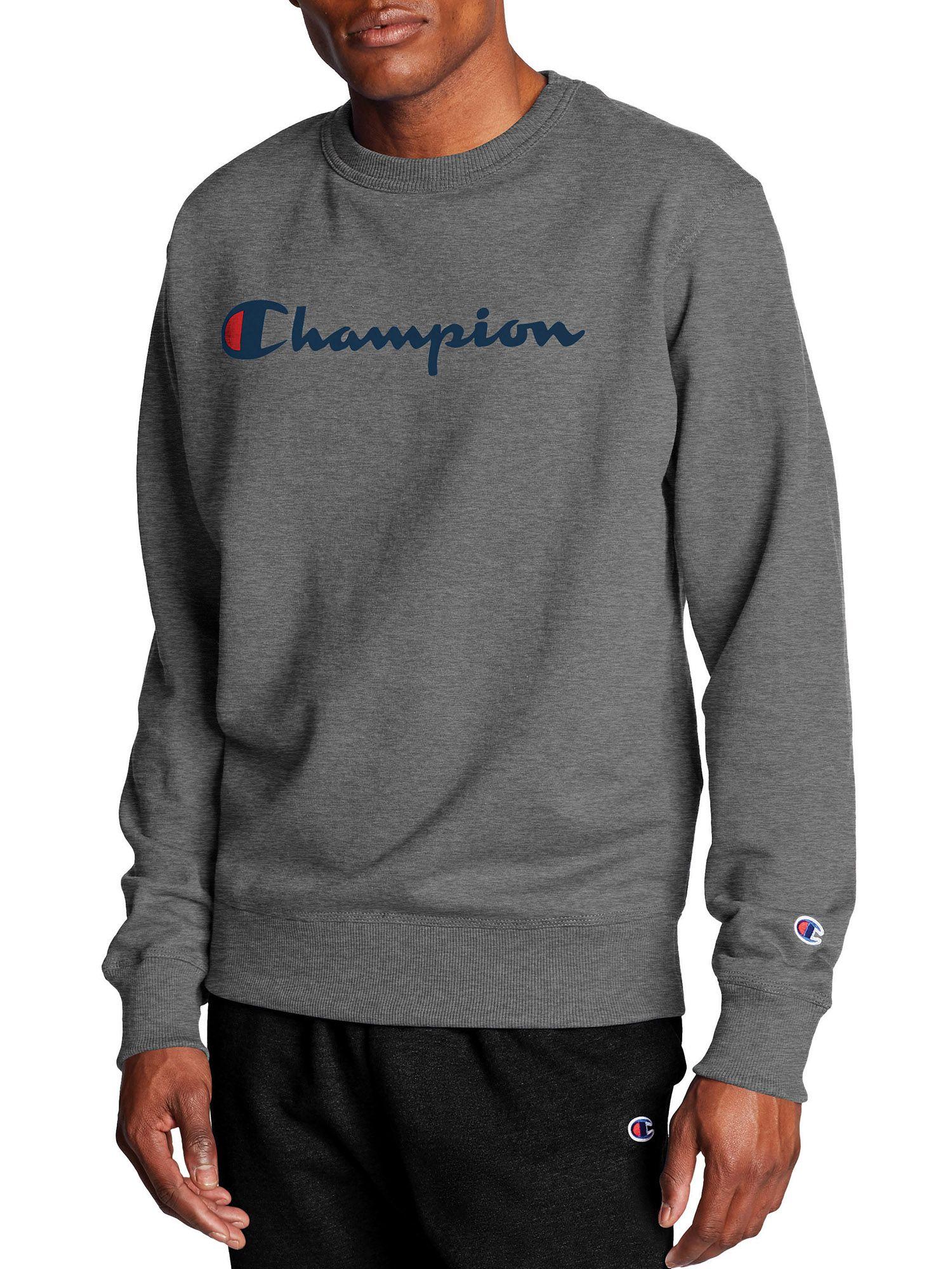 Champion Champion Men S Powerblend Graphic Crew Sweatshirt Walmart Com Graphic Crew Neck Sweatshirts Crew Neck Sweatshirt Sweatshirts [ 2000 x 1500 Pixel ]