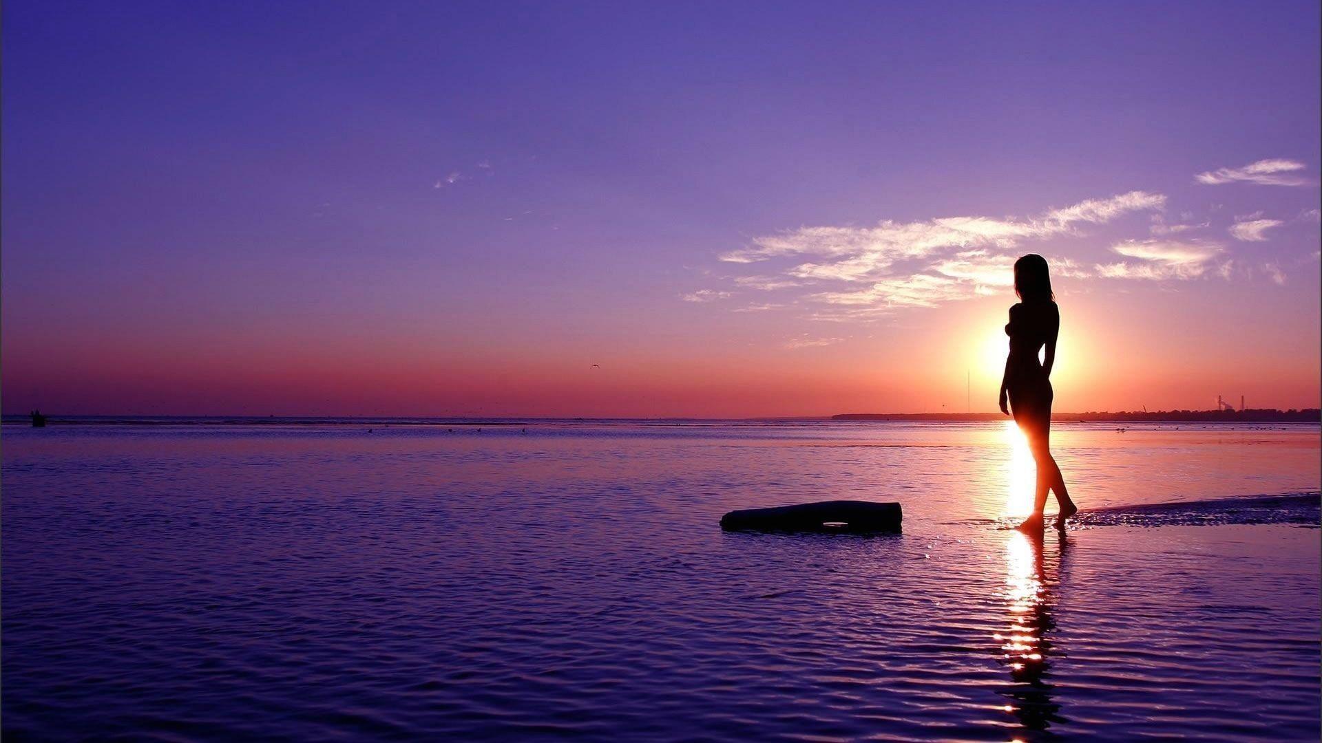 388bda6c77 playa puesta de sol silueta mujer fondos de pantalla | photos ...