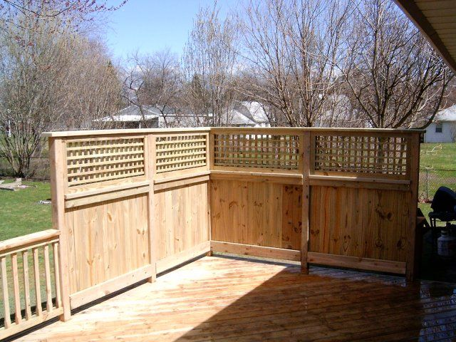 Pin By Hilary Hill On Outdoors Privacy Fence Designs Privacy Wall On Deck Backyard Fences
