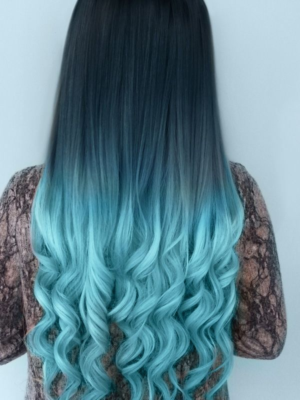 Black To Mint Ombre Hair Google Search Hair In 2018 Pinterest