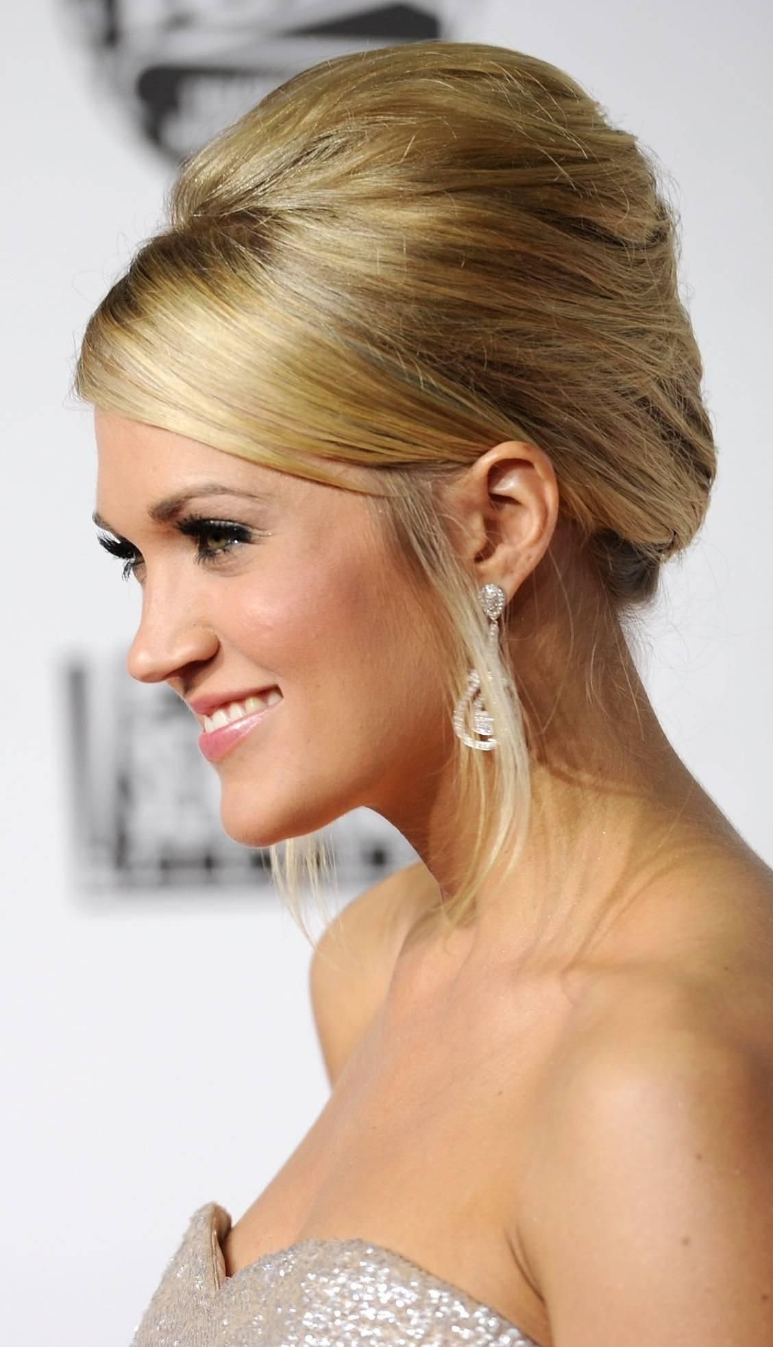 carrie underwood classic updo hairstyle | hair & beauty tips