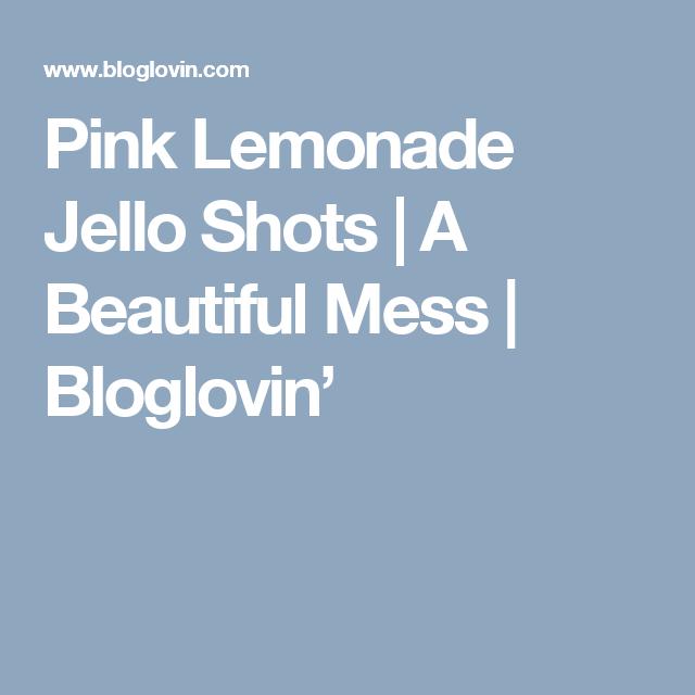 Pink Lemonade Jello Shots (A Beautiful Mess)
