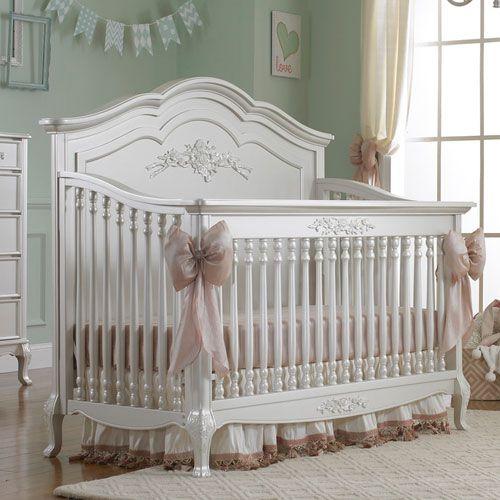 Angelina Convertible Crib Pearl Finish from PoshTots  nursery