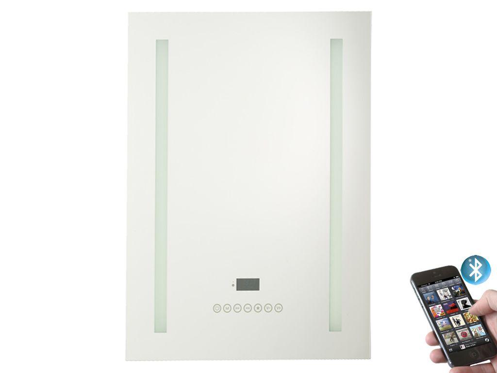 Tenor Illuminated Bathroom Mirror with Bluetooth & FM / DAB Radio ...