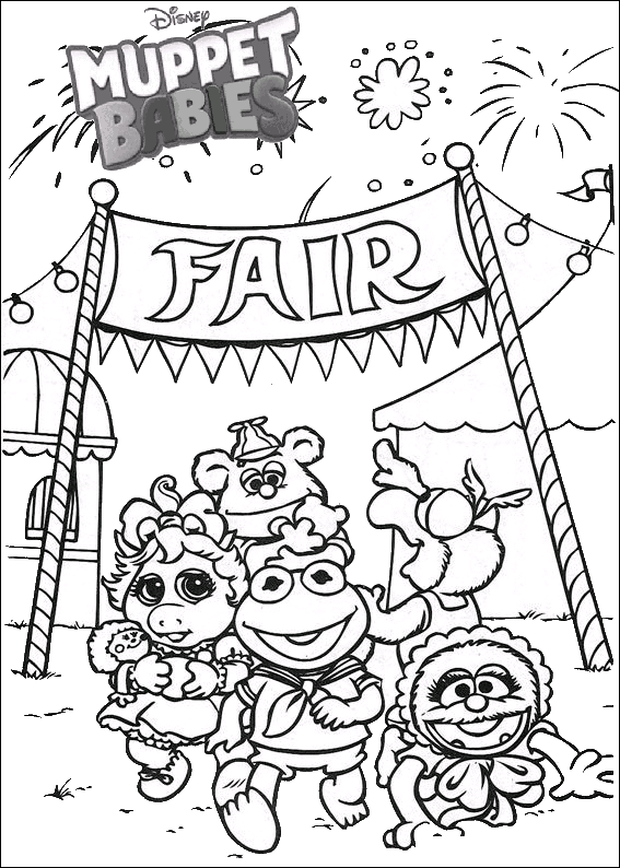 Fantastic Muppet Babies Disney Coloring Pages Best Muppet Babies