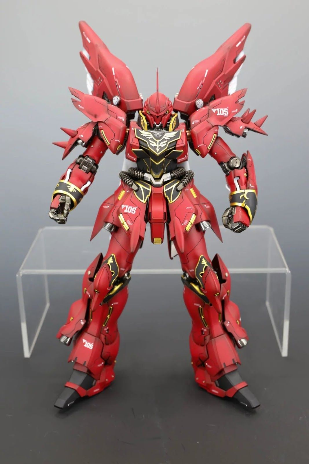 Mg 1 100 Full Armor Sinanju Diorama Build シナンジュ ガンダム