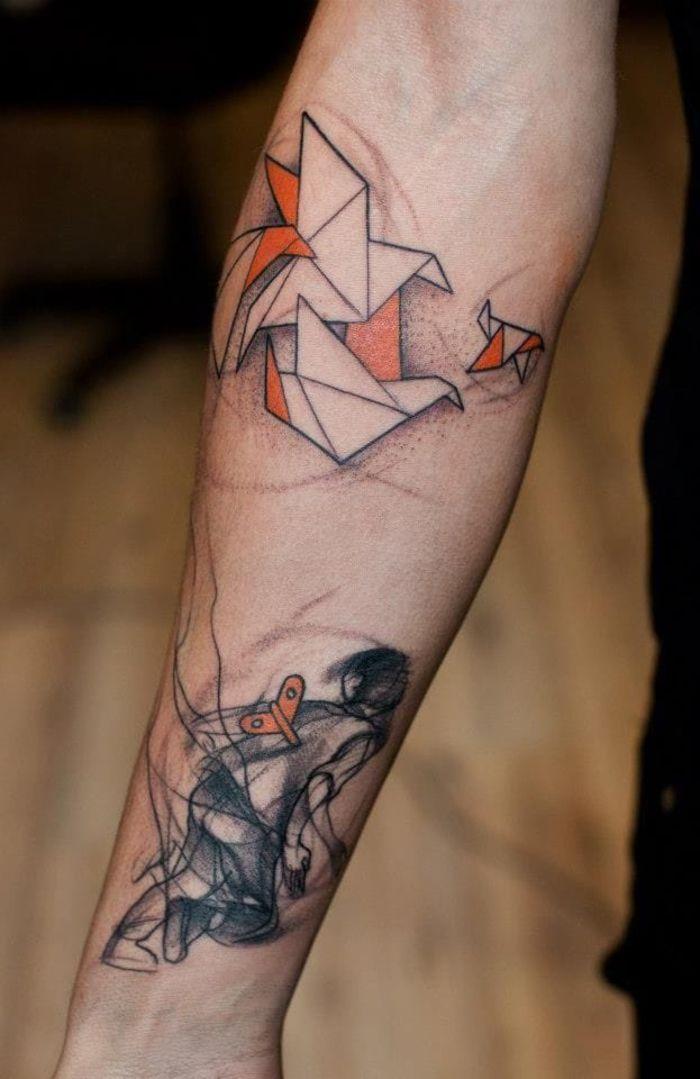 1001 Modeles Originaux De L Art De Tatouage Origami Tattoo