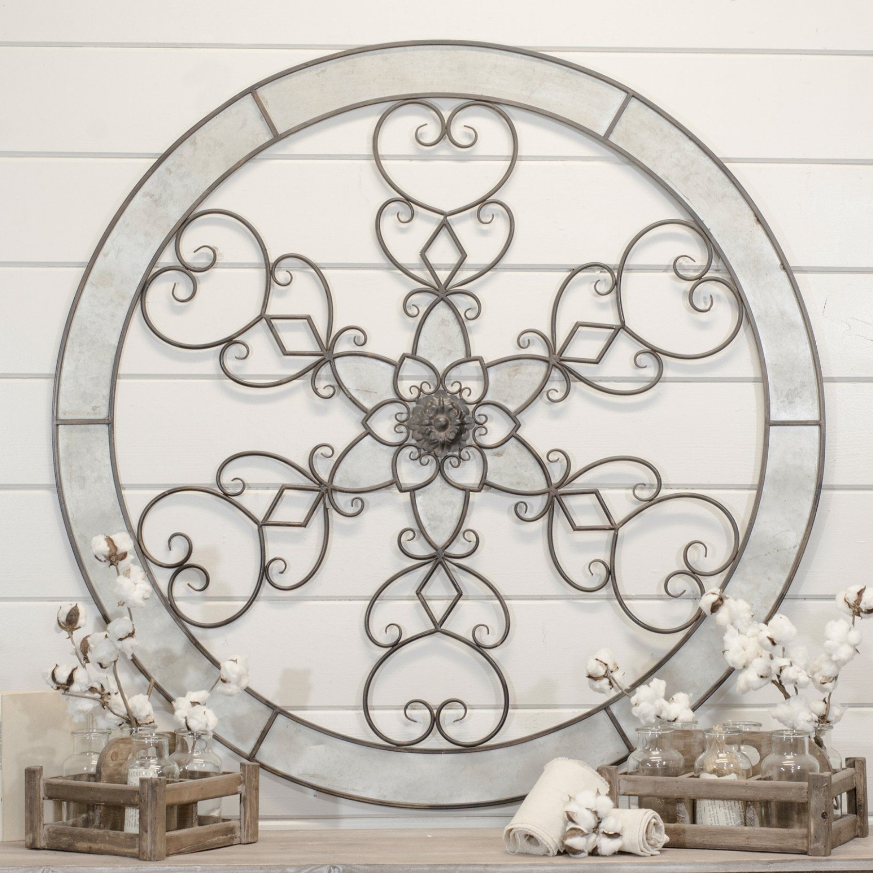 American Mercantile Metal Mandala Wall Art By1088