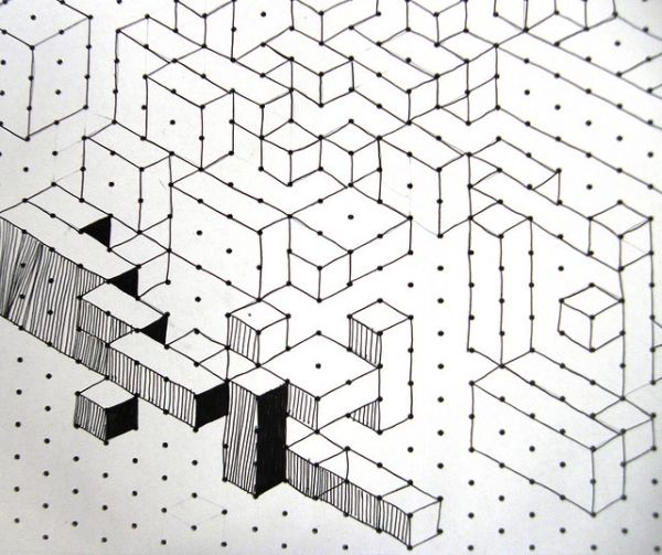 Cuboids lesson, op art kids love it graph paper by - 3d graph paper