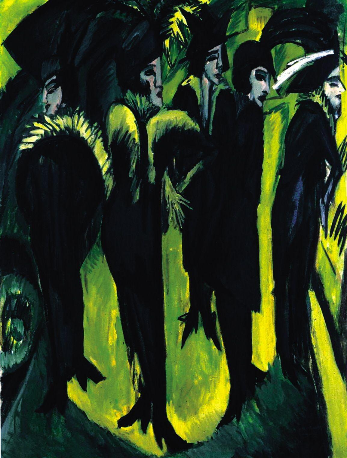 Cinco mujeres en la calle es un cuadro del pintor Ernst Ludwig ...