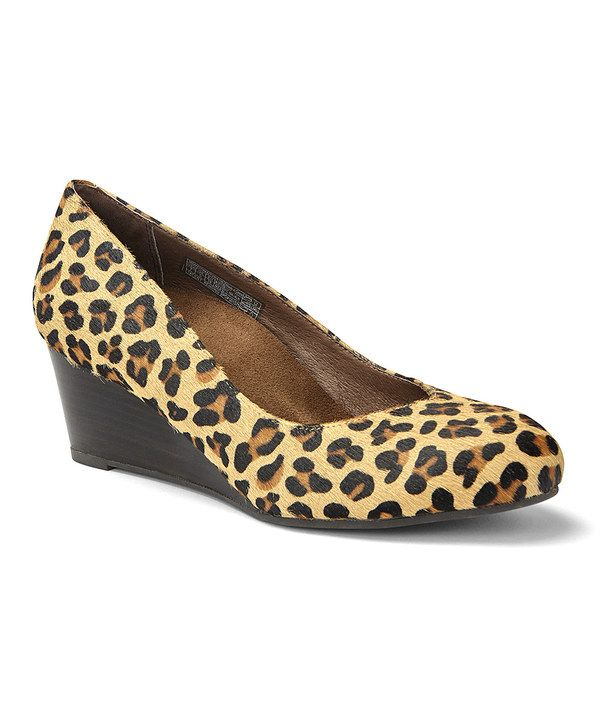 Look at this Tan Leopard Antonia Wedge - Women on #zulily today!