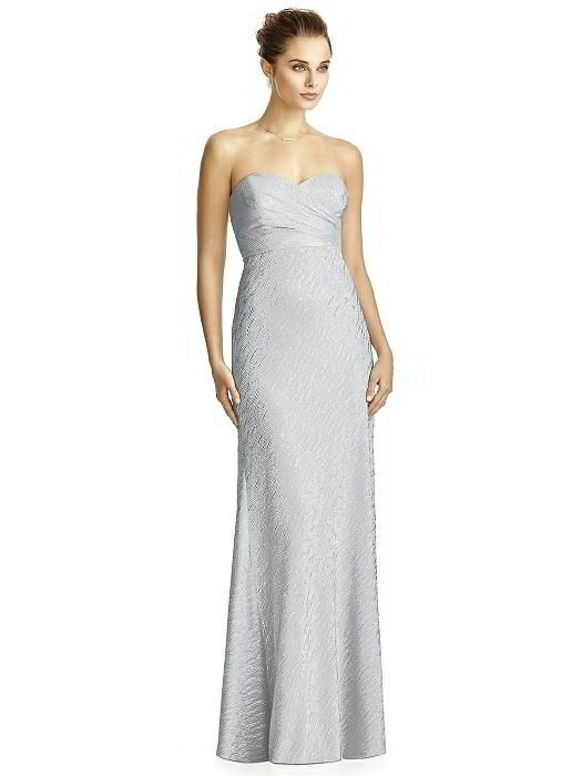 f596ac80c80 Silver wedding bridesmaid dress by Jenny Yoo Bridesmaid Style JY526 in  silver crush.Full length strapless soho metallic dress w  sweetheart  neckline and ...