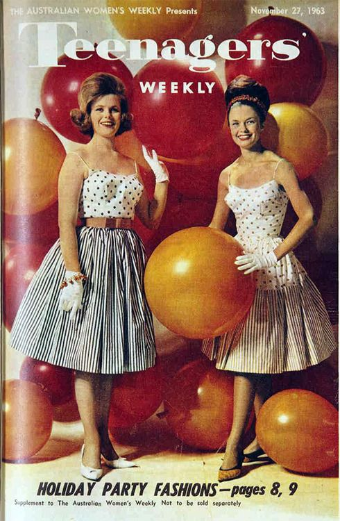Party Fashions 1963 Teenagers Weekly Australia