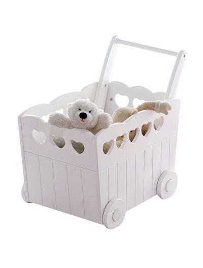 Coffre de rangement bébé à roulettes thème libellules BLANC ...