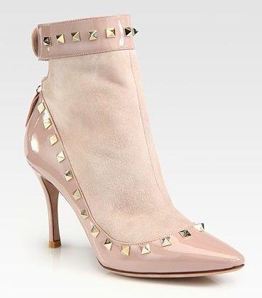 Valentino Rockstud Rolling Fringed Suede Sandals | Ankle