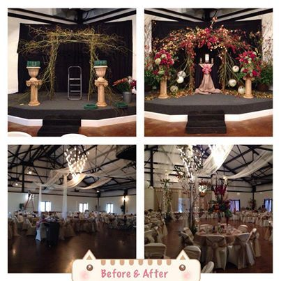 Before and after wedding reception at Buffalo Valley Event Center! #dentontx #dfwweddings #dfwbrides