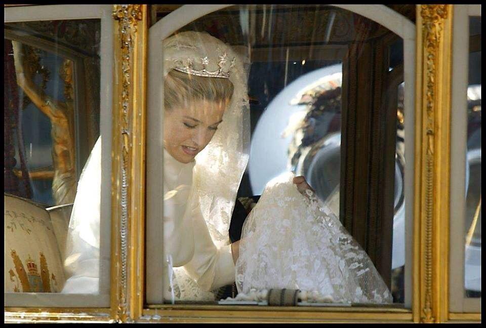 Maxima on her wedding day