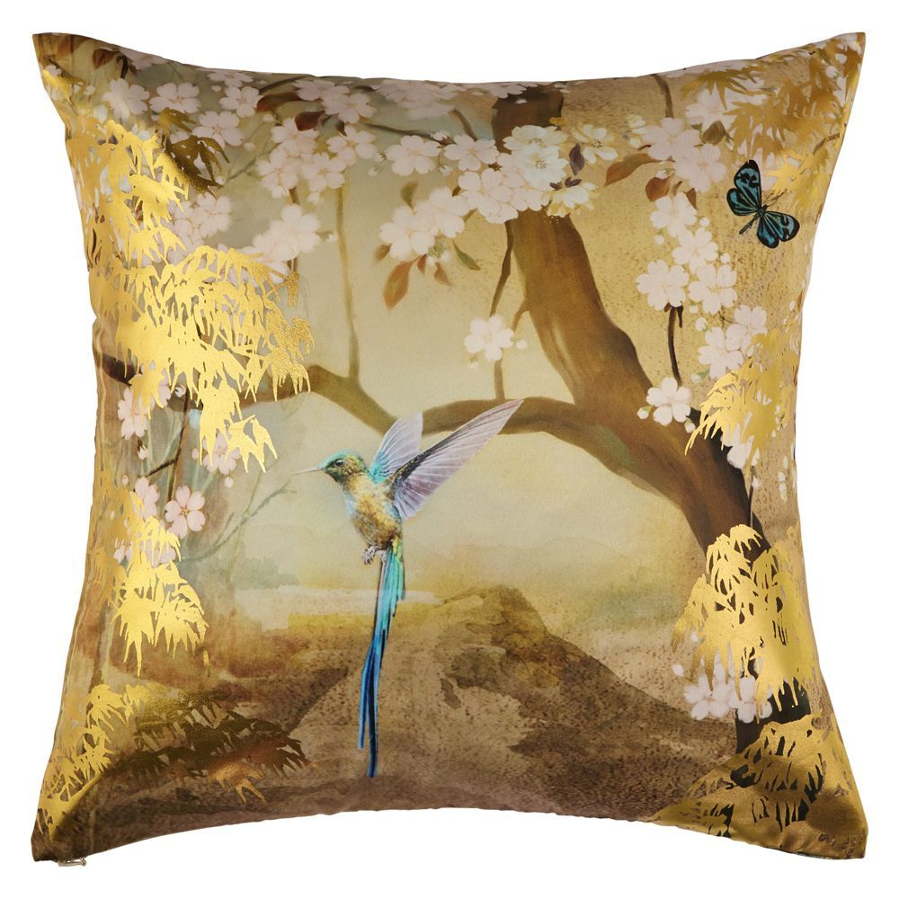 Suki Gold Foil Cushion by Arthouse Gold Cushion 004765