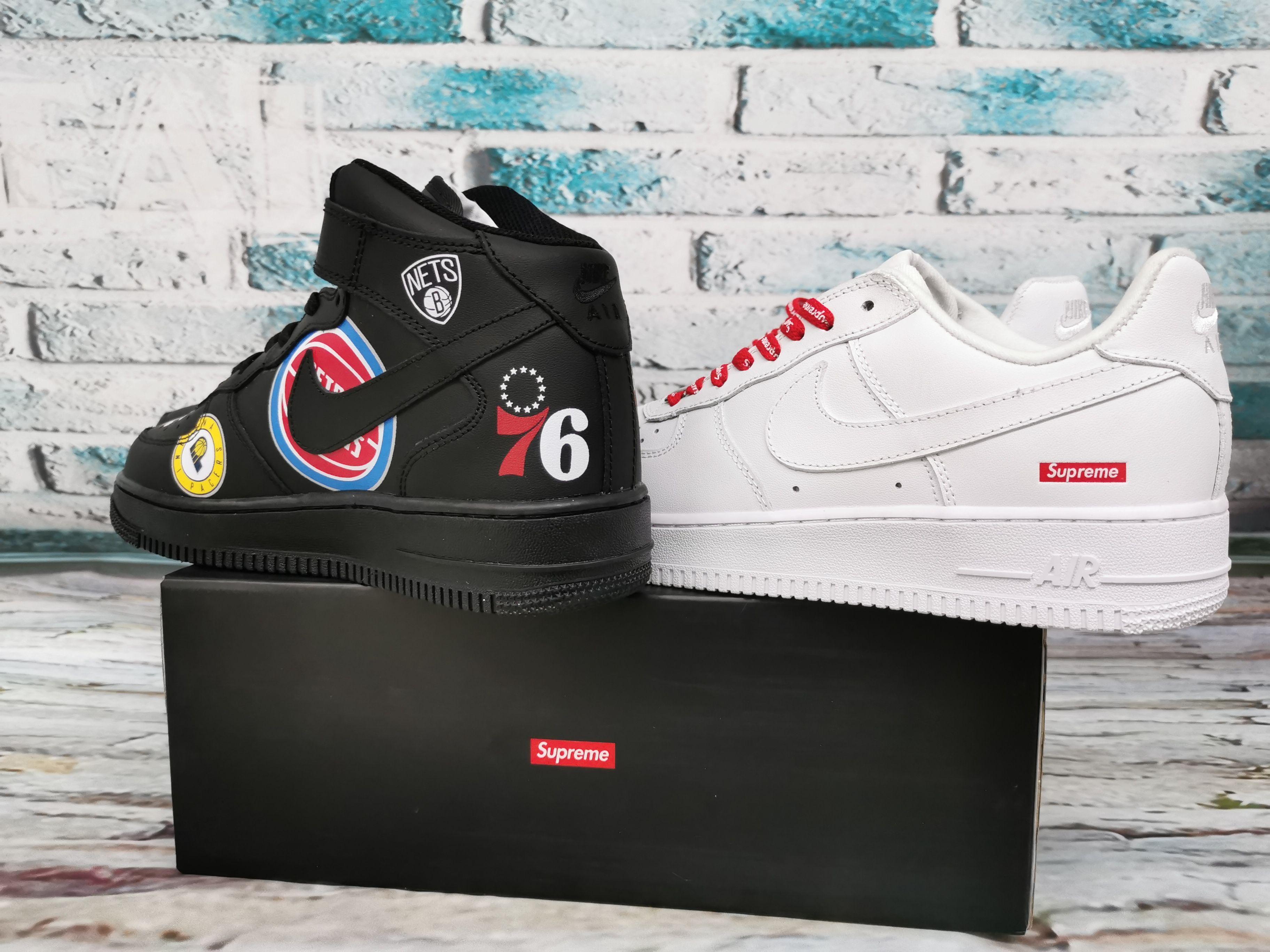 For Sale Kicks Supreme X Air Force 1 Low Box Logo White Shoes In 2020 Air Force Box Logo Air Force 1