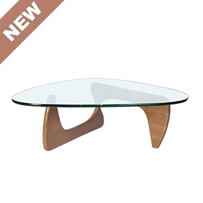 Amazon Com Glass Coffee Table Mid Century Modern Coffee Table Noguchi Coffee Table For Living Room Lo In 2020 Living Room Table Coffee Table Modern Coffee Tables