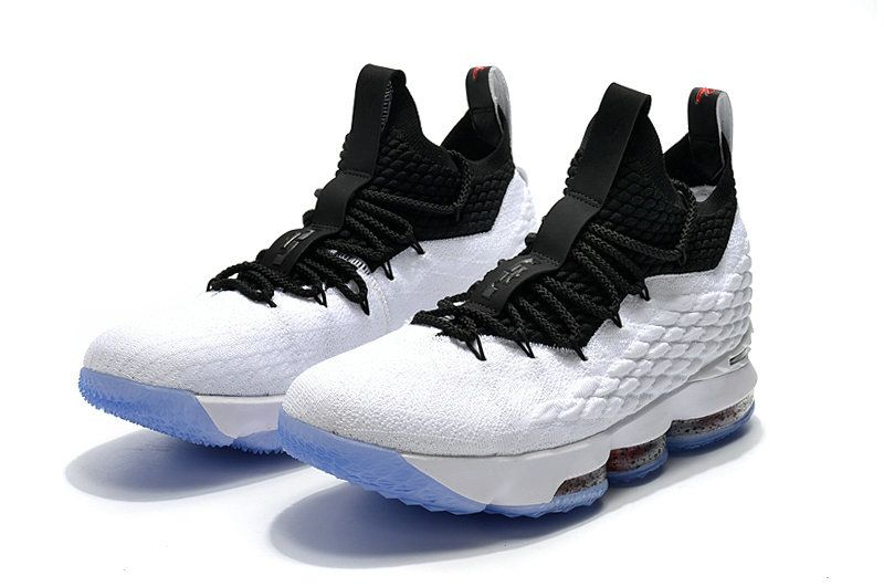 Discount 2018 Nike LeBron 15 Mens Basketball Shoes Graffiti White Black For  Sale d7e6df7c4