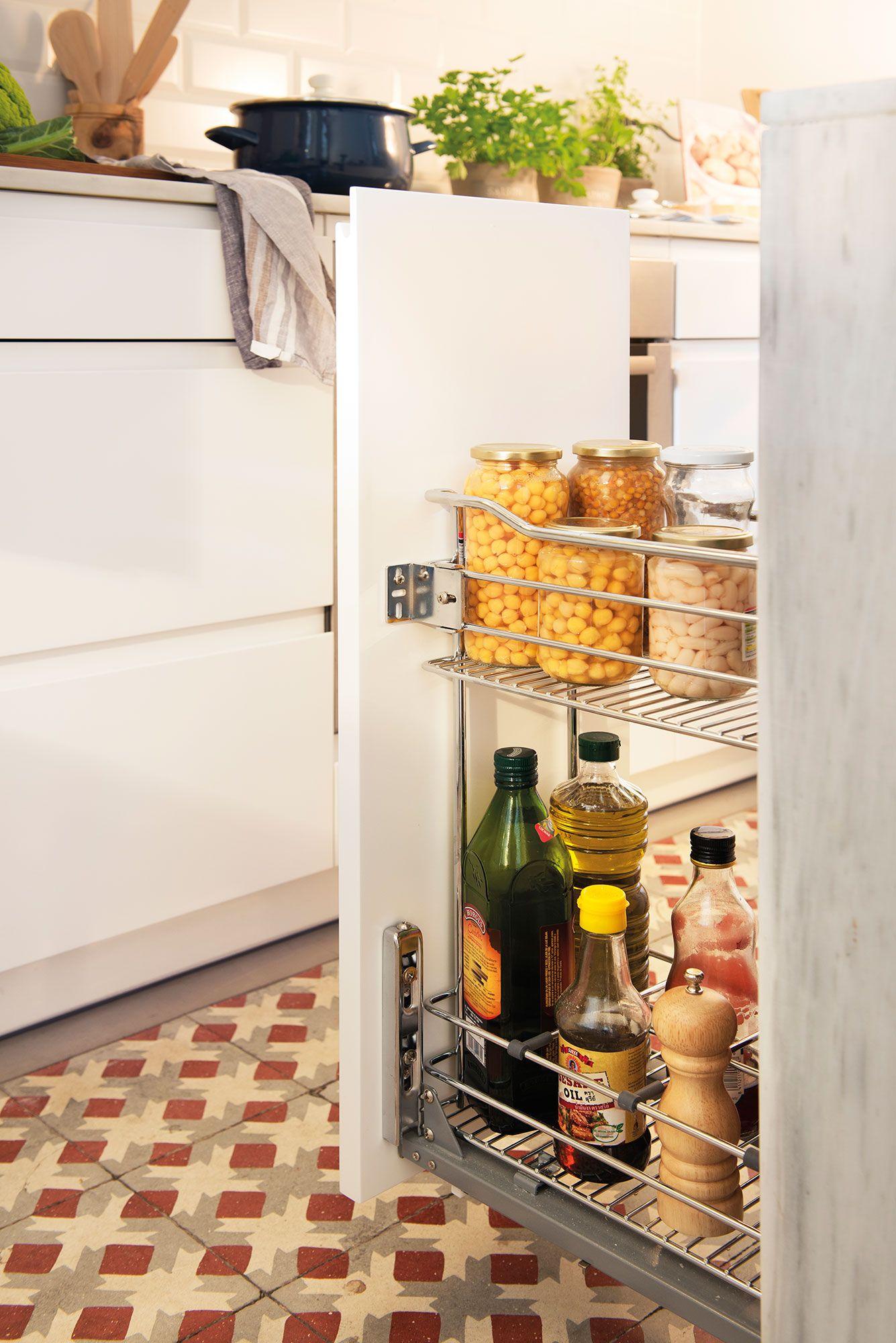 Columna Cocina | Detalle De Cajon De Cocina Tipo Semi Columna Abierto