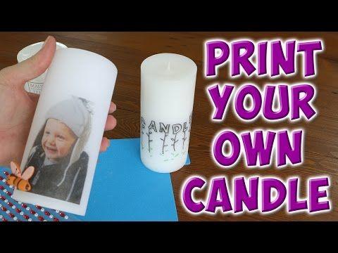 DIY Test: Foto auf Kerze übertragen | Foto Transfer Potch Set von Hobby Line - YouTube