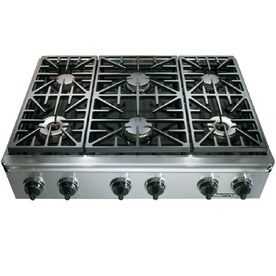 Dacor 36in 6Burner Downdraft Gas Cooktop (Stainless