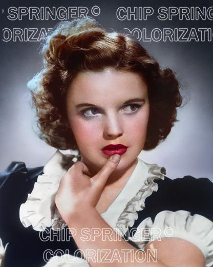 JUDY GARLAND PORTRAIT #5 IN NAVY DRESS BEAUTIFUL COLOR PHOTO BY CHIP SPRINGER. Featured Ebay Listing. Please visit my Ebay Store, Legends of the Silver Screen, at http://legendsofthesilverscreen.com to see the current listings of your favorite Stars now in glorious color! Thanks for looking and check out my Youtube videos at https://www.youtube.com/channel/UCyX926rA5x4seARq5WC8_0w